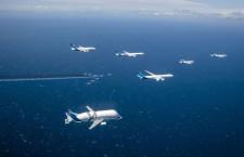 エアバス、50周年で編隊飛行