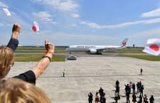 JAL、A350初号機受領し羽田へ 植木会長「6年前の決断正しかった」