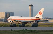 旧政府専用機B-747、2号機が離日