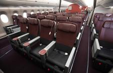 ワインレッドと黒のツートンカラー 写真特集・JAL A350-900(クラスJ編)