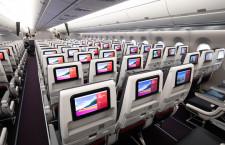 全席モニター完備、コンセント使いやすく 写真特集・JAL A350-900(普通席編)