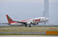 ティーウェイ航空、関空2タミへ20年3月移転 夏ダイヤから