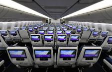 世界最大の個人モニター備える1列10席エコノミー 写真特集・ANA新777-300ER(3)