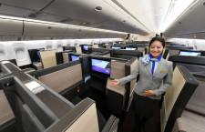 ANA、新仕様777-300ERをNY・フランクフルト投入 787-10はマニラ