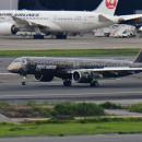 """E195-E2、日本初飛来 """"TechLion""""アジア太平洋ツアーで羽田到着"""