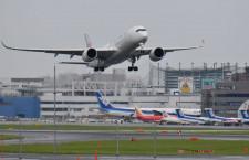 JALのA350、初の福岡訓練終え関空へ