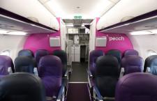 ピーチ、元バニラ改修初号機の機内公開 12機のA320を年度内刷新