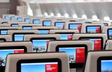 普通席も全席モニター完備 写真特集・JAL A350-900福岡公開(3)