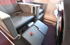 クラスJは新レッグレストで座り心地向上 写真特集・JAL A350-900福岡公開(2)