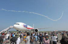 新政府専用機B-777、千歳航空祭に初参加