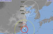 台風9号、10日は上海・台北便に欠航