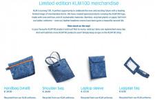 KLM、100周年記念ロゴグッズ通販サイト「KLM100 shop」