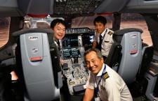 JAL、A350訓練飛行公開 9月に羽田-福岡就航、離着陸時も静かな機内