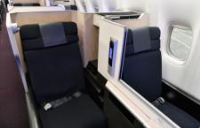 JAL、国際線777-300ERシートカバー刷新 A350と連続性ある色調に