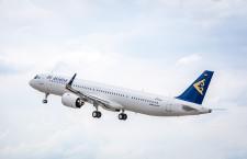 エア・アスタナ、A321LR初号機受領