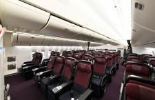 ワインレッドと黒のプレエコ 写真特集・JAL 777-300ER機内デザイン刷新(2)