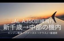 [動画公開]JAL A350 訓練飛行中の機内(新千歳→中部)