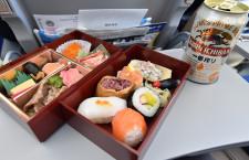 スカイマーク、大田区商店街に弁当箱寄贈 サイパン運休で余剰、「春弁当」企画に活用