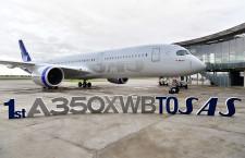 エアバス、受注222機 納入77機 19年11月、スカンジナビア航空にA350初号機