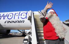 サンタさん、フィンエアー便で来日 トナカイは「お休み」