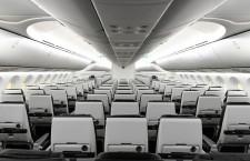 個人用モニターなし、タブレット置きと電源完備のレカロ製普通席 写真特集・ZIPAIR 787-8の機内(2)