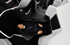 ZIPAIR、787の機内お披露目 上級席はフルフラット、全席モニターなしで軽量化