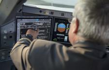 エアバス、A350コックピットにタッチ画面導入
