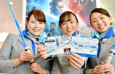 ANA、スター・ウォーズ新作公開でイベント 羽田国際線で