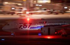 ANAの787ロゴ塗装機、ラストフライト終える JA818A、福岡発NH272便