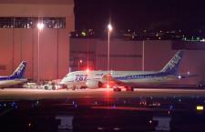 ANAの787ロゴ塗装機、シンガポールへ出発 再塗装で全機姿消す