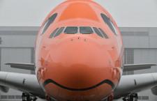 非中東系ラストはサンセットオレンジ 写真特集・ANA A380 3号機ロールアウト(後編)
