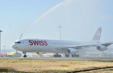 スイス国際航空、関空-チューリッヒ就航 コロナ拡大で式典中止