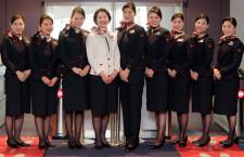 11代目でパンツスタイル初採用 写真特集・JAL新制服着用開始(CA編)