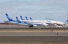 新千歳にもANA・JAL旅客機並ぶ 国際線9割運休