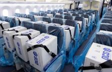 ANA、787の客席を貨物スペースに マスク入り段ボール運ぶ