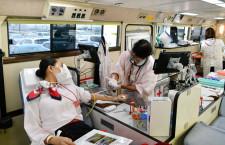 JAL、羽田空港で献血協力 テレワークで都内の企業献血減