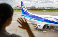 ANAの737-500スーパードルフィン最終便、福岡から羽田到着 25年間運航