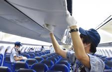 787は10人、30分できれいに ANA、アルコールで機内消毒