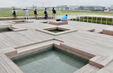 羽田イノベーションシティが先行開業 飛行機眺めて足湯も