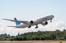 777X、3号機も初飛行 エンジン推力検査