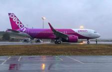 ピーチ、A320neo初受領 188席仕様、A321LRは6機に