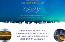 JALどこかにマイル、搭乗5日前まで申込可に 福岡発着を追加