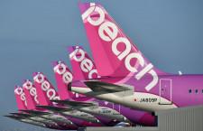 ピーチ、国際3路線減便 12月末まで46便