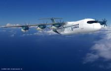 エアバス、6発プロペラの燃料電池旅客機案