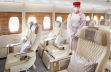 エミレーツ航空、プレエコ付A380初便はロンドン 4日就航、当面無料UG
