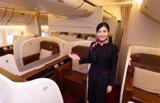長距離国際線飛ぶフラッグシップ 写真特集・JAL 11代目CA新制服と主要機材(2)777-300ER編