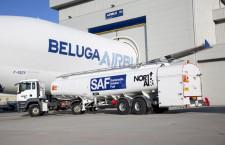 エアバス、ベルーガにSAF使い初飛行 食用油由来燃料でCO2削減へ
