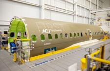 エアバスACJ220、最初のセクションが工場到着 A220のビジネスジェット仕様