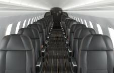 エンブラエル、ERJ145のセミプライベートジェット仕様 席数半減でゆとり