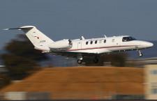 ユーグレナ、自社バイオ燃料で初フライト 国交省の飛行検査機CJ4で